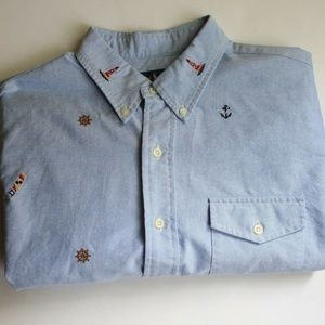 Polo Ralph Lauren Nautical Short Sleeve Shirt L